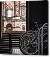 Bikes And University Canvas Print
