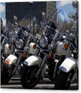 Bikes In Blue Canvas Print