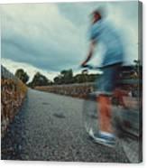 Bikes In Motion Near Durrow 1 Canvas Print