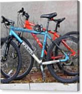 Bikes Left Alone Canvas Print