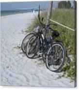 Bikes On The Beach Canvas Print