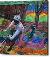 Biking In Mn  Canvas Print