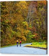 Biking On The Parkway Canvas Print