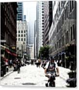 Biking The Streets Of New York City Canvas Print