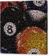 Billiard Ball Bottle Cap Mosaic Canvas Print