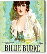 Billie Burke In The Misleading Widow 1919 Canvas Print