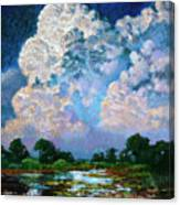 Billowing Clouds Canvas Print