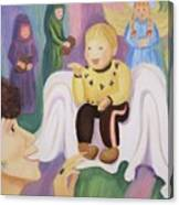 Billy As Baby Jesus Canvas Print