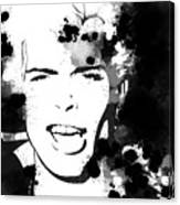 Billy Idol Splatter Canvas Print