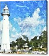 Biloxi Lighthouse Canvas Print
