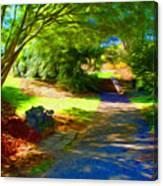 Biltmore Mansion Walking Path Canvas Print