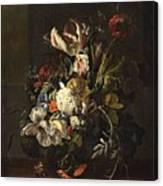 Bindweed And Chrysanthemums Canvas Print