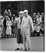 Bing Crosby And Ben Hogan Canvas Print