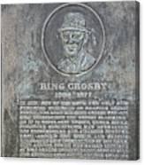 Bing Crosby Pebble Beach I Canvas Print