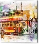 Binns Tram 2 Canvas Print
