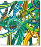 Bipolar Mania Rollercoaster Abstract Canvas Print