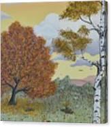 Birch And Oak Frienship Canvas Print