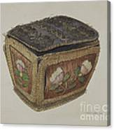 Birch Bark Sewing Basket Canvas Print