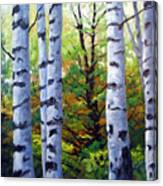 Birch Buddies Canvas Print