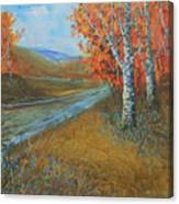 Birch Fall Canvas Print