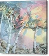 Birch Filigree Canvas Print