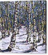 Birch Tree Mosaic 2 Canvas Print