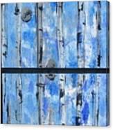 Birch Trees - Blue Canvas Print
