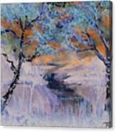 Birch Trees On The Ridge 2 Canvas Print