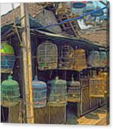 Bird Cages Vintage Photo Indonesia Canvas Print