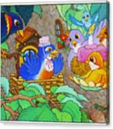 Bird-day Canvas Print
