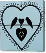 Bird Heart Canvas Print