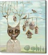 Bird Houses Canvas Print
