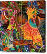 Bird Of Fire Guitar Canvas Print