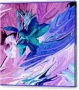 Bird Of Paradise In Blue Canvas Print