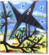 Bird On A Tree After Picasso Canvas Print