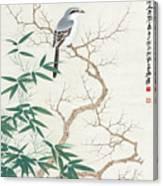 Bird On The Branch Canvas Print