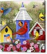 Bird Painting - Primary Colors Canvas Print