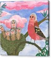 Bird People The Chaffinch Family Canvas Print