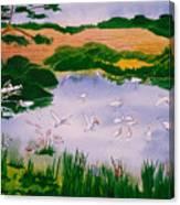 Bird Pond Canvas Print