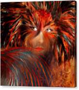 Bird Woman Canvas Print