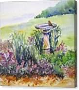 Birdbath Canvas Print