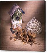 Birdhouse And Beehive 2 Canvas Print