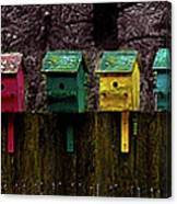 Birdhouse Beachfront Canvas Print