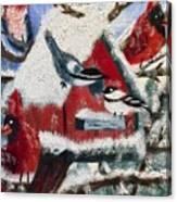 Birdhouse Rock I Canvas Print