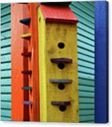 Birdhouses For Colorful Birds 6 Canvas Print