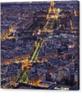Bird's Eye On Paris 1 Canvas Print