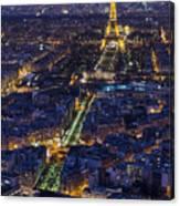 Bird's Eye On Paris 2 Canvas Print
