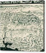 Birds-eye View Of California Canvas Print