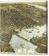 Birds Eye View Of Jacksonville Florida 1893 Canvas Print