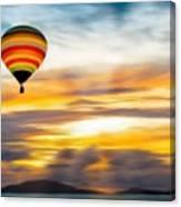 Birds Eye View Of Sunset Canvas Print
